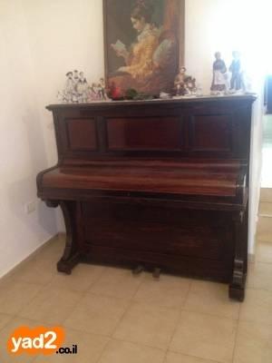 מגה וברק פסנתר אנגלי עתיק יפה ומרשים,בעל כלי נגינה יד שניה - ad DV-05