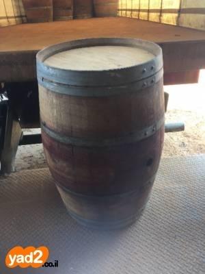 למעלה חביות יין מעץ אלון משומשות לגינה ריהוט יד שניה - ad GH-89