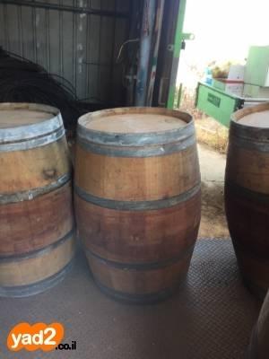 מצטיין חביות יין מעץ אלון משומשות לגינה ריהוט יד שניה - ad GV-88