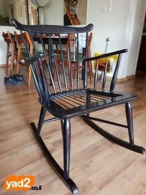 להפליא כיסא נדנדה דניש משנות השישים ריהוט יד שניה - ad CM-48