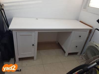 מודרניסטית שולחן עץ לבן מתוצרת איקאה ריהוט משרדי יד שניה - ad YB-23
