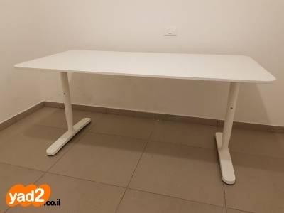 האחרון שולחן כתיבה לבן - איקאה ריהוט משרדי יד שניה - ad XQ-11