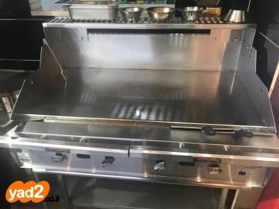 מצטיין פלנצ׳ה גז 4 מבערים בשימוש ציוד לעסקים למסעדות/בתי קפה יד שניה - ad QH-19